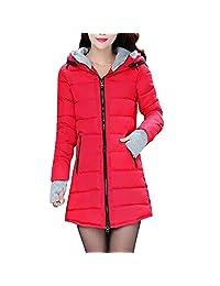 KINDOYO Winter Women's Long Cotton Stand Coat Collar Jacket Overcoat