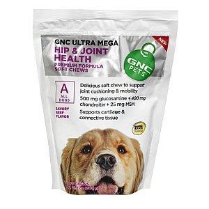 GNC Pets Ultra Mega Hip & Joint Health Savory Beef Flavor 120 Soft -