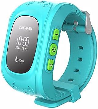 Emplazar® Niños GPS Tracker Reloj Inteligente para Smartwatch Q50GPS Tracker SOS Llamada de Emergencia Telecom Monitor Wearable Dispositivos satélite Android Reloj iPhone posición Reloj ubicación