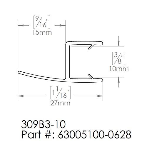 "85%OFF DreamLine Clear Bottom Sweep Vinyl (pre-cut) 24 6/8"" Length, 309B3-10, for 10 mm. Glass Shower Door, 63005100-0628"
