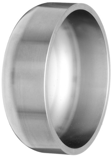 Dixon B16W-G150 Stainless Steel 304 Sanitary Fitting, Unpolished Weld End Cap, 1-1/2