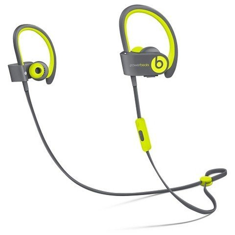 Beats by Dr dre Powerbeats2 Wireless In-Ear Bluetooth Headphone with Mic - Shock Yellow (Renewed)