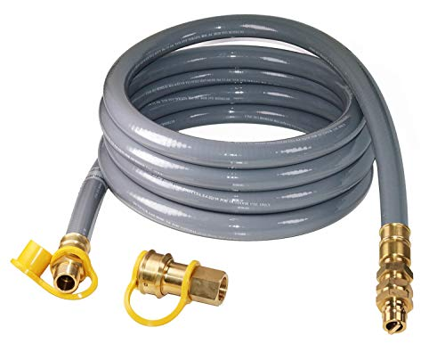 DOZYANT 15 Foot 3/4inch ID Natural Gas Hose with Quick Connect/Disconnect Fittings for Generator, Construction Heaters and More NG/Propane Appliance