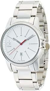 Calvin Klein Select K0A21126 - Reloj de caballero de cuarzo, correa de acero inoxidable color plata
