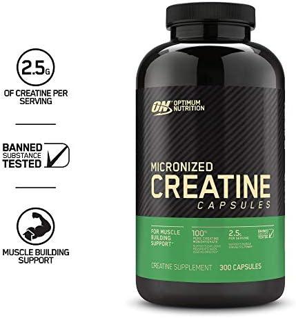 Optimum Nutrition Micronized Creatine Monohydrate Capsules, Keto Friendly, 2500mg, 300 Capsules (Packaging May Vary) 4