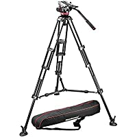 Manfrotto MVH502A,546BK-1 Professional Fluid Video System with Aluminum Legs and Mid Spreader (Black)