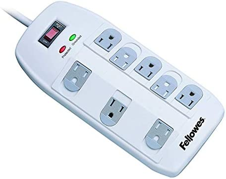 Fellowes 8-Outlet Superior Surge Protector, 6 Foot Cord, 2,160 Joules 99015 3-Pack