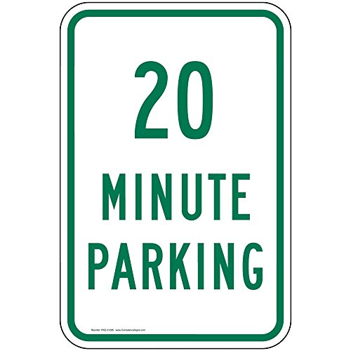 ComplianceSigns Aluminum Parking Control sign, Reflective 18 x 12 in. with Parking Allowed info in English, ()