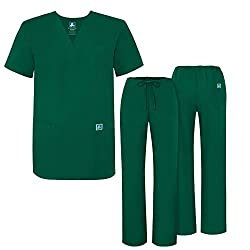 Adar Universal Medical Scrubs Set Medical Uniforms - Unisex Fit - 701 - Hgr -S