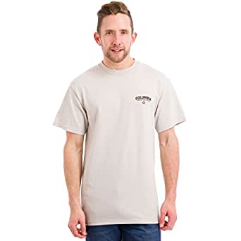 Columbia Men's PHG Elements Whitetail Short Sleeve Tee, Fossil Heather, Medium