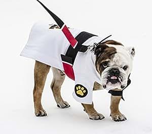 New Item DogGi Jiu Jitsu Judo Karate Martial Arts Dog Gi Kimono (LARGE, WHITE)