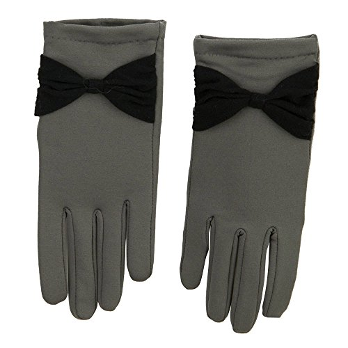 Women's Bow Accent Glove - Grey OSFM (Bow Accent Gloves)