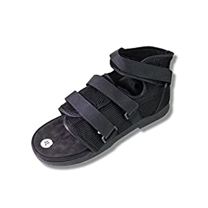 Post Op Shoe - Lightweight Walking Boot w/ Adjustable Straps - Foot & Broken Toe Protection for Men Injury Recovery X-Large