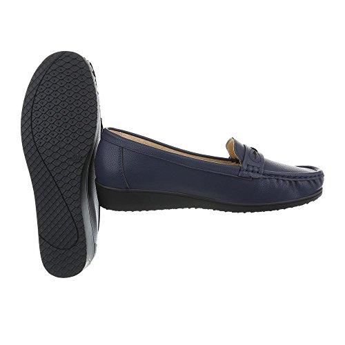 Zapatos De Mujer Mocasines Mocasines Planos Azul Talla 40