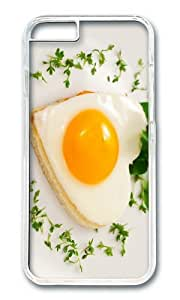Heart shaped egg pastry breakfast PC Transparent Hard Case for Apple iPhone 6(4.7 inch)