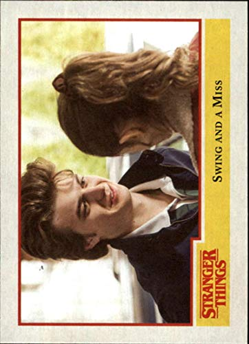 (2018 Topps Stranger Things Season 1#66 Swing and a Miss Official Netflix Series Collector's Card)