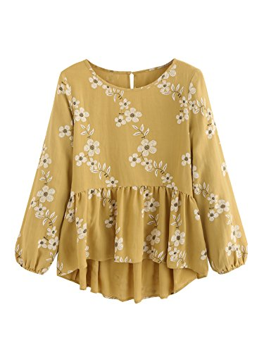 Long Sleeve Baby Doll Top - 8