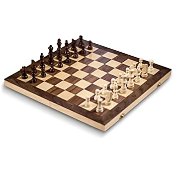 "Smart Tactics 16"" Folding Chess Set Made By FSC Certified Wood - Standard Edition"