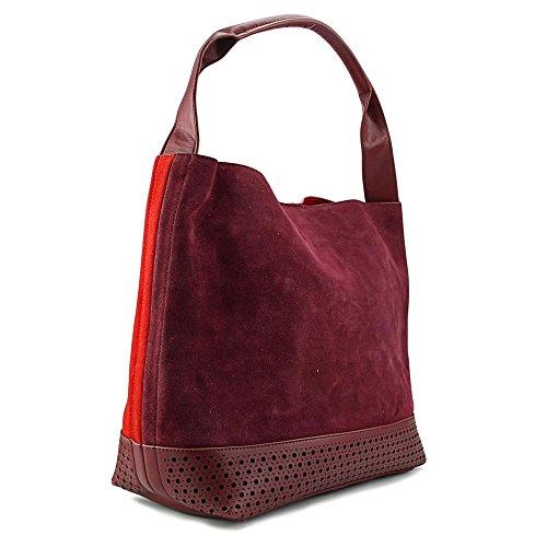 Buco Reversible Bi-Color Hobo Femmes Rouge Sac porté main