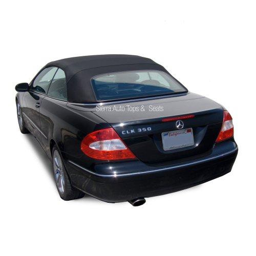 Sierra Auto Tops Mercedes 2004-2009 CLK (209) Convertible Top, Stayfast Canvas, Black