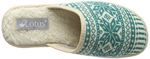 Lotus Kale, Zapatillas de Estar por Casa para Mujer azul turquesa