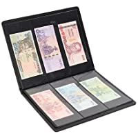 Lewano Leather Currency Storage 90 Pocket Album (Black)