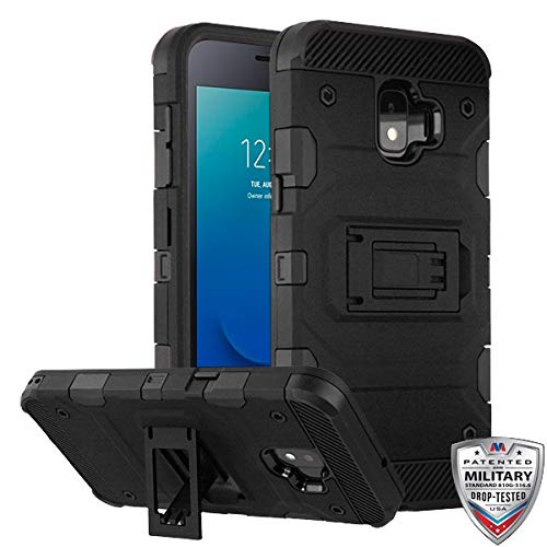 Black/Black Storm Tank Hybrid Protector Cover [Military-Grade Certified](with Package) for Samsung J260 (Galaxy J2 Core) Samsung Galaxy J2 Samsung Galaxy J2 Pure Samsung Galaxy J2 Dash