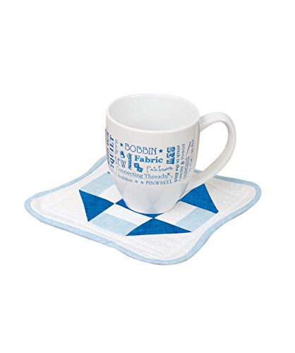 Connecting Threads Quilting (Connecting Threads Mug and Rug Quilting Kit – Quilted Coaster Beginner Pattern and Ceramic Mug (Cottage Square))