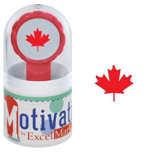 Motivations Pre-inked Teacher Stamp - Canadian Maple Leaf - Red Ink