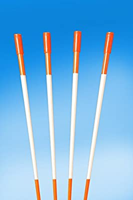 "60"" FLUORESCENT ORANGE 100 Driveway Markers, Reflective Snow Stakes, Plow Stakes,5/16"" Thick X 60"" ORANGE Fiberglass Stakes , 100 Pack 5 FT. TALL"