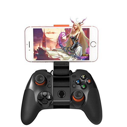 Geekercity Wireless Bluetooth Game Gaming Controllers Joystick Gamepad Remote Control with Phone Clip for Android IOS PC iPhone (Bluetooth Para Tv Samsung)