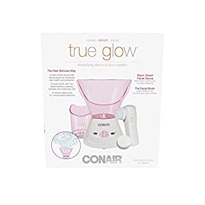 True Glow by Conair Moisturizing Mist Facial Sauna System; Pink / Cream