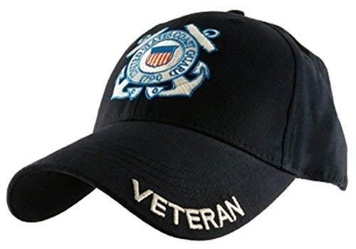 U.S. Coast Guard Veteran Hat / USCG Insignia Navy Blue Baseball Cap 6337