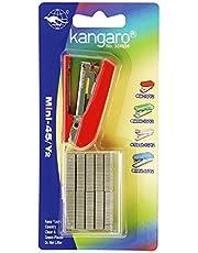Kangaro Mini-45/Y2 Stapler for 24/6, 26/6 Staples, Red