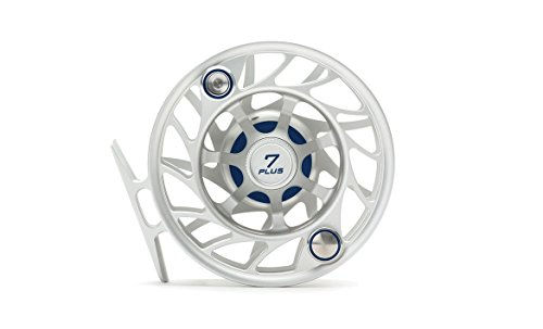 Hatch Gen 2 Finatic 7 Plus Fly Reel, Clear/Blue, Large Arbor