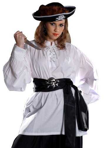 Armor Venue Grace O' Malley Poet Pirate Shirt - Pirate Costume - White ()