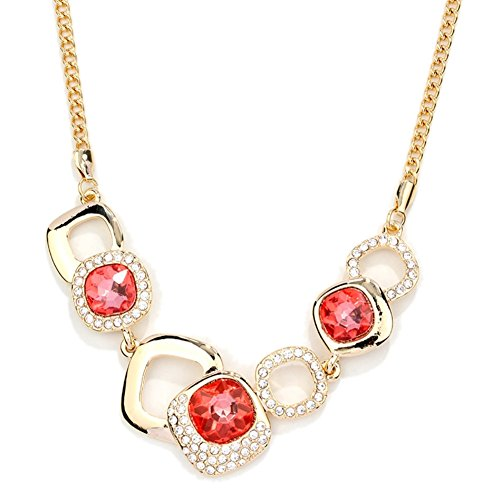 NL-12039C1 Fashion Alloy Europe Diamond Inlaid Crystal Women's Necklace