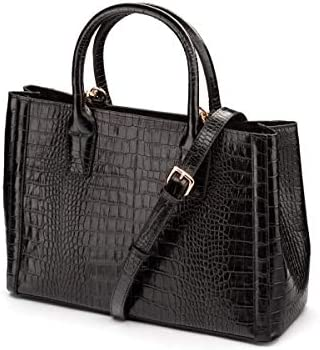 SageBrown Kate Bag Black Croc