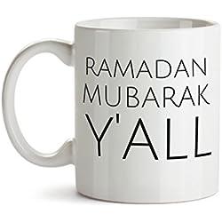 Arabic Gifts - Eid Gifts - Ramadan Mug - Ramadan Mubarak y'all - Islamic gifts - Ramadan Gifts - Islamic Mug - Funny Gifts