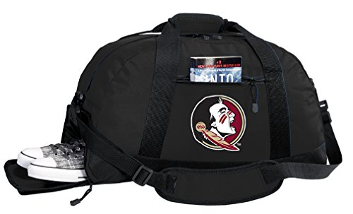 Broad Bay NCAA Florida State University Duffel Bag - FSU Gym Bags w/SHOE POCKET