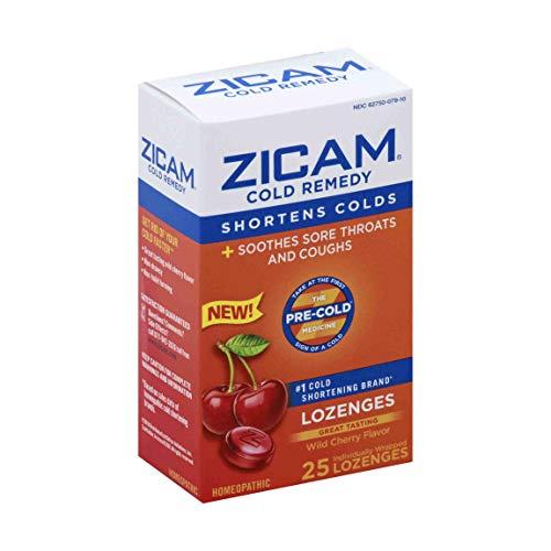 Zicam Cold Remedy Lozenges, Wild Cherry Flavor, 25 Count