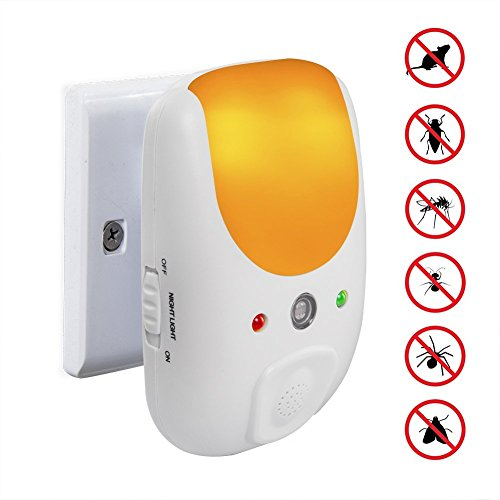 Vensmile Ultrasonic Indoor Plug-in Pest Repeller with Night Light - Get Rid Off All Types of Insects and Rodents