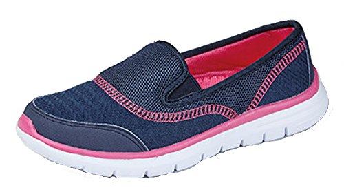 Bleu Marche Athltiques Marine Sport De Pour Lgre Chaussures Femmes OOqwA47S