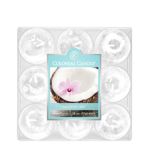 Colonial Candle Coconut Rain Tealights, Set of 9