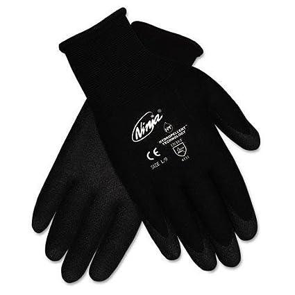 Gloves, Black NINJA Coated Palms SZ 9 GVC-22BK - - Amazon.com