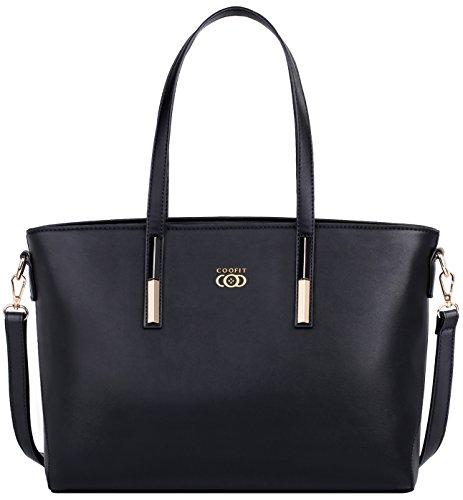 COOFIT Lady Purses and Handbags Little Bow Leisure Top-Handle Bags Shoulder Bag Purse (Coofit Black) by COOFIT