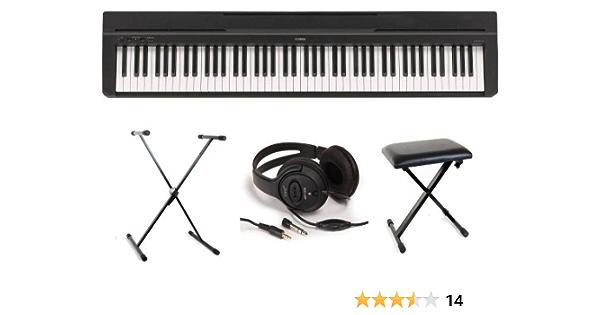 Yamaha P35 - Teclado (incluye soporte, auriculares y banco ...