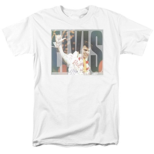 Elvis Presley King Of Rock Musical Icon Aloha Knockout Logo Adult T-Shirt -