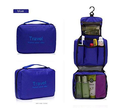Kingstons blau Unisex Luxus Faltbar Tasche zum Aufhängen Make-up Tasche Wandern Tasche Turnbeutel