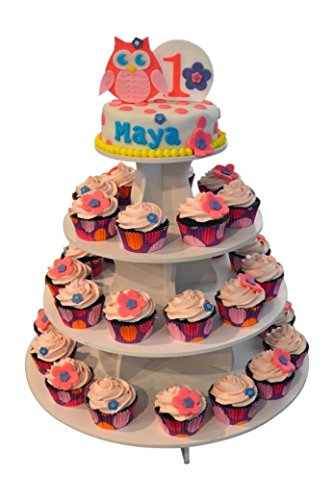 The Smart Baker 5 Tier Round Cupcake Stand PRO- Holds 90+ Cupcakes As Seen on Shark Tank Professional Cupcake Tower by The Smart Baker (Image #5)